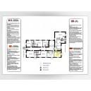Impression Plan d'Evacuation sur Alu Laqué Blanc A4 297 x 210mm