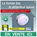 """Adhésif pour vitrine """"détecteur de fumée """""""